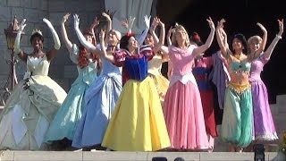 Merida Coronation at Disney's Magic Kingdom - All 11 Disney Princesses Together During Ceremony