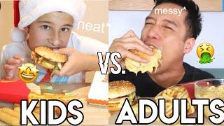kids vs. adults mukbangs