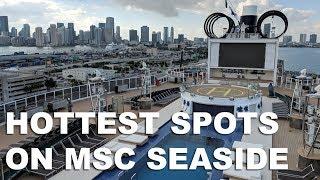 Cool Spots on MSC Seaside