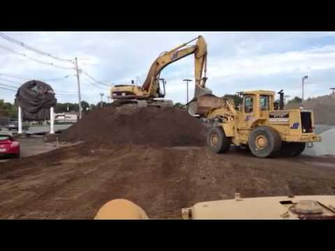 POV video of what it is like to run a Dozer on a Constructi
