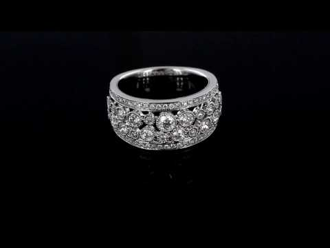 Browns Family Jewellers White Gold And Diamond Dress Ring