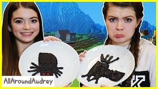 MINECRAFT PANCAKE ART CHALLENGE! Learn How To Make DIY Minecraft Pancakes! / AllAroundAudrey