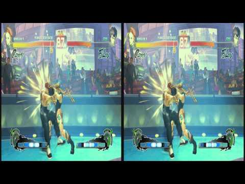 (3D & 4K) Super Street Fighter 4 3840x2160 Cammy vs Fei Long (Ultra HD) Oculus Rift