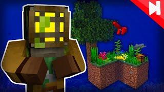 Minecraft Skyblock, but Everything is Underwater