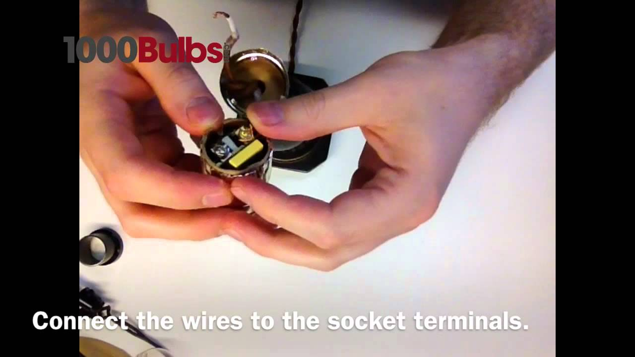 How to Repair a Table Lamp - YouTube