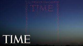 Watch A TIME Magazine Cover Made Using 958 Drones Take Shape | TIME