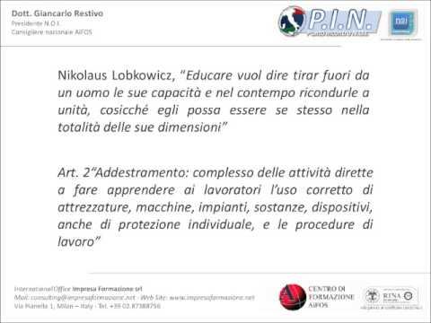 """Commento alla definizione di """"Formazione"""" art. 2 D.Lgs. 81/08 - Dott. Giancarlo Restivo"""