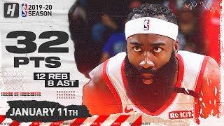 James Harden 32 Pts 12 Reb Full Highlights | Timberwolves vs Rockets | January 11, 2020