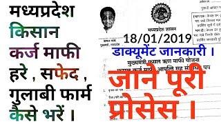 MP Kisan Karj Maphi 2018-2019 !!  हरा फार्म , सफेद तथा गुलाबी फार्म कैसे भरें !! More Creative