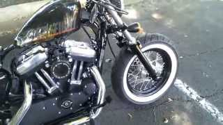 Harley forty eight white wall tires DK custom tank lift.