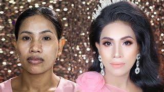Cô Gái Lao Công Giúp Việc Thuê Đẹp Như Hoa Hậu Sau Khi Trang Điểm/ Hùng Việt Makeup
