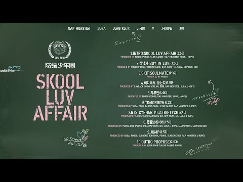 BTS - Skool Luv Affair (Full Album)