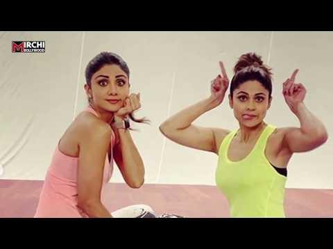 Shilpa Shetty-Shamita Shetty cute & fun gym session will show sibling goals