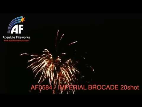 Absolute Fireworks Imperial Brocade - 20 shot firework