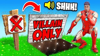 Playing as a SUPERHERO in a VILLAIN ONLY Tournament! (Fortnite)