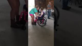 Dancing with my Mom wheelchair style, oh how I love her - September 22nd💕