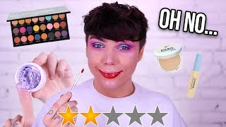 TESTING LOWEST RATED MAKEUP... LITERALLY WTF?!
