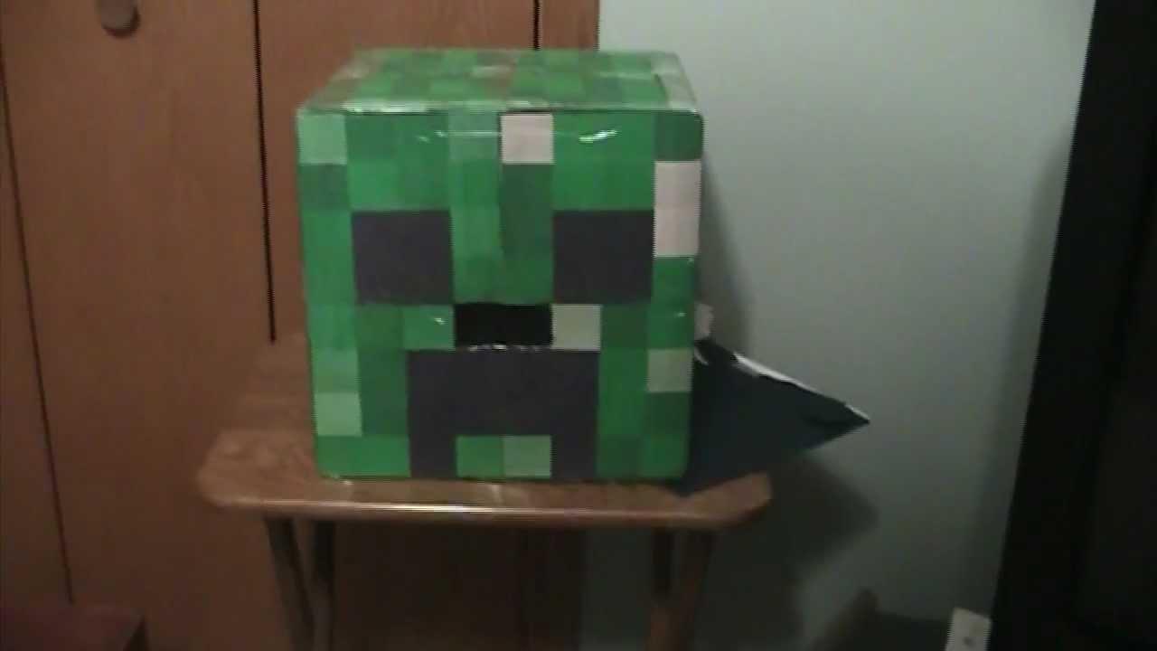 how to make a creeper head minecraft