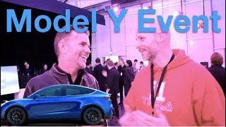 Tesla Model Y Event Night