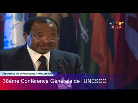 Discours de SE Paul BIYA à la 38è Conférence Généragel de l'UNESCO