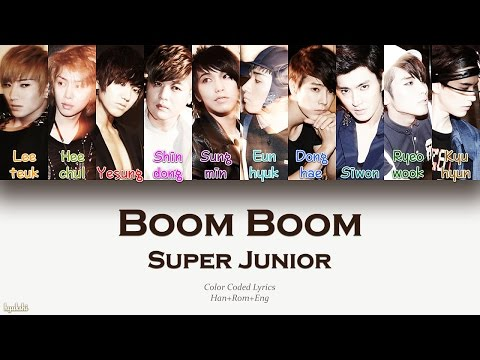 Super Junior (슈퍼주니어) – Boom Boom (나쁜 여자) (Color Coded Lyrics) [Han/Rom/Eng]