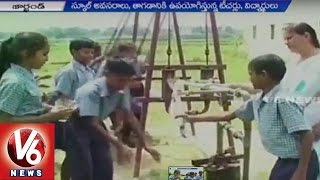 Swinging helps borewell to pump water in Ranchi..