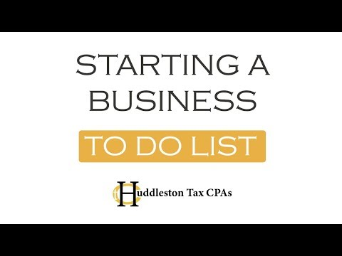 Starting a New Business-To Do List (Small Business Webcast)