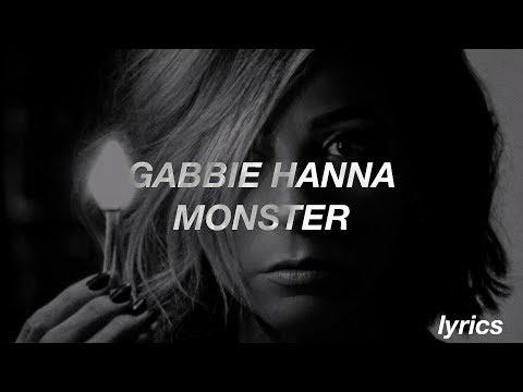 Gabbie Hanna / Monster (Lyrics)