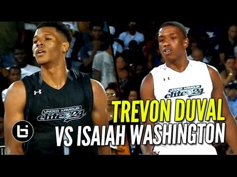 Trevon Duval vs Isaiah Washington EPIC BATTLE! UA Elite 24 CRAZY Mixtape!!