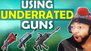 THE BURST RIFLE IS INSANE! | USING UNDERRATED GUNS - (Fortnite Battle Royale)