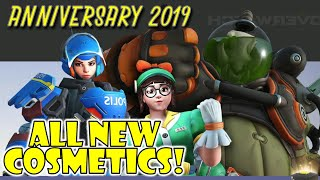*NEW* Overwatch Anniversary 2019 - All SKINS, EMOTES, VICTORY POSES, VOICE LINES, SPRAYS!