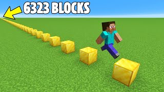 Jumping 6323 Blocks to Break a Minecraft Record