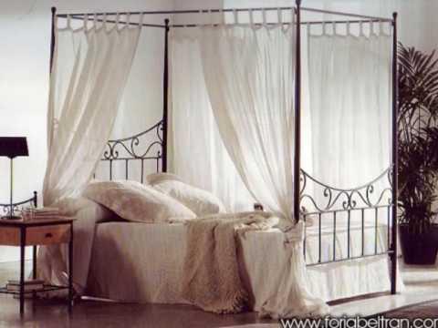 Camas de forja dormitorios rusticos clasicos modernos for Camas con dosel de madera