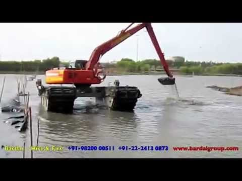 Amphibious Excavator for the first time ever in India
