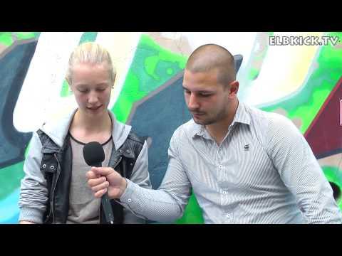 Jasko Mahmutovic (Trainer Hamburger SV, U17 B-Juniorinnen)  und Sylvana Kempka (Hamburger SV, U17 B-Juniorinnen) tippen den 3. Spieltag der Bundesliga Nord/Nordost | ELBKICK.TV