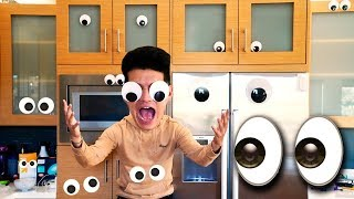 Covered My House With GOOGLY EYES!!