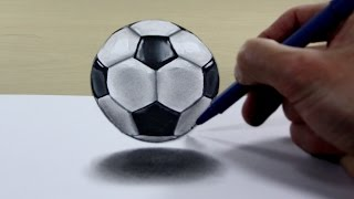 3D Trick Art on Paper   Soccer ball