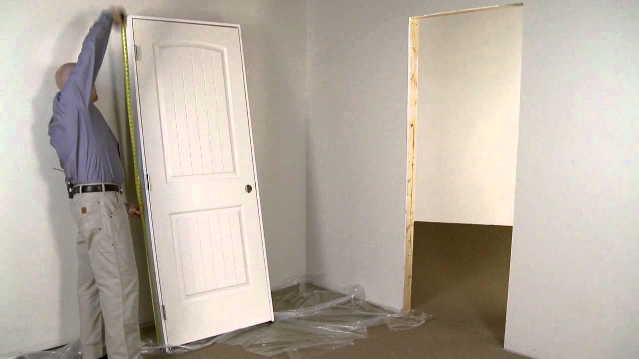 Installation de porte int rieure pr mont e en usine youtube - Comment reboucher une porte ...