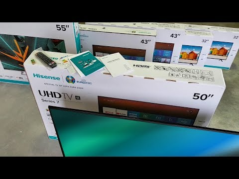 video Hisense 50″ 4K  Smart Frameless TV (50B7100UW)