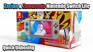 Zacian & Zamazenta Limited Edition Nintendo Switch Lite Quick Unboxing