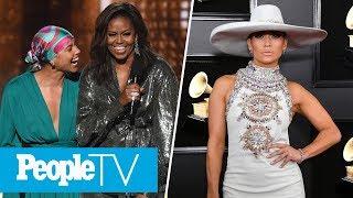 Michelle Obama, Alicia Keys & More Kick Off Grammys, J.Lo Defends Motown Tribute   PeopleTV