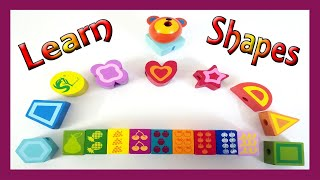 Learn Numbers Shapes and Colors with Wooden Shape Toy For Toddlers | Video for Kids |