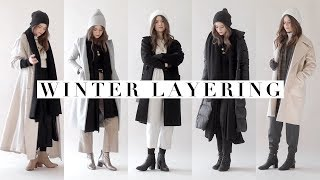 Layering Winter Outfits // How to Style Winter Clothing