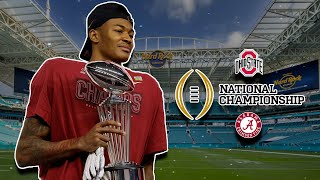 ALABAMA WINS THE NATIONAL CHAMPIONSHIP BEHIND DEVONTA SMITH MONSTER GAME