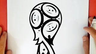 HOW TO DRAW THE WORLD CUP RUSSIA 2018 LOGO