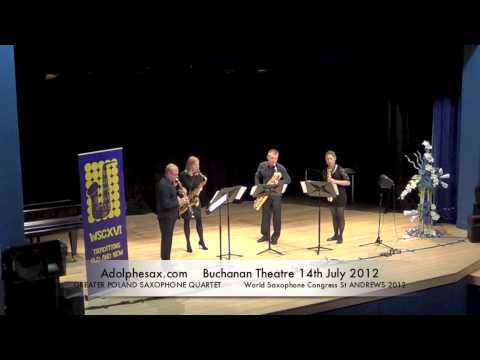 WSCXVI GREATER POLAND SAXOPHONE QUARTET   Quatuor pour Saxophones by Alfred Desenclos