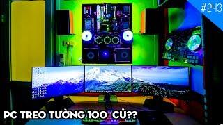 Những góc máy (chơi game) đẹp nhất Việt Nam tháng 11/2017: TIMELAPSE BUILD PC TREO TƯỜNG 100 CỦ???!!