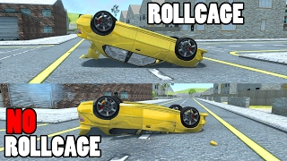 BeamNG.Drive - Rollcage VS NO Rollcage Crashes