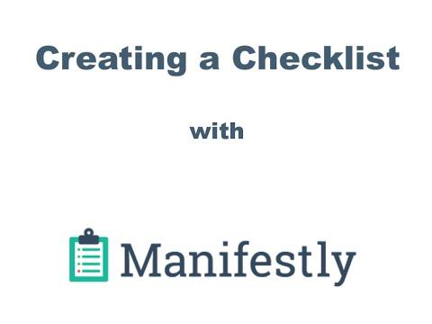 Manifestly: Creating a New Checklist