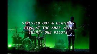 Twenty One Pilots  - Stressed Out & Heathens live at the AMAS 2016 (lyrics)